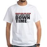 BJJ Down Time White T-Shirt