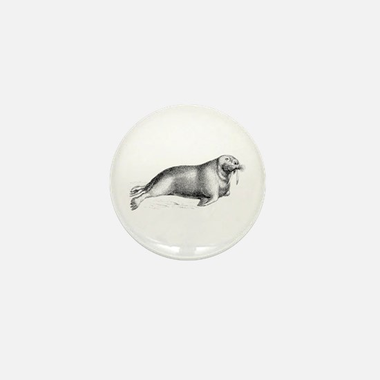 Walrus Mini Button