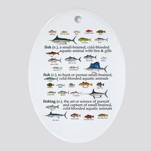 Fishin Definition Oval Ornament