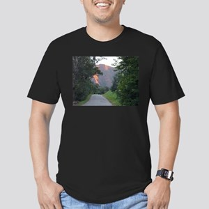 Colorado Mountain trail at su Men's Fitted T-Shirt