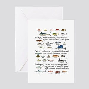 Fishin Definition Greeting Card