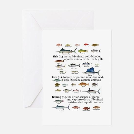 Fishin Definition Greeting Card
