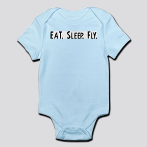 Eat, Sleep, Fly Infant Creeper