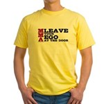 MMA Leave your ego Yellow T-Shirt
