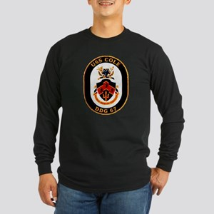 USS Cole DDG-67 Navy Ship Long Sleeve Dark T-Shirt