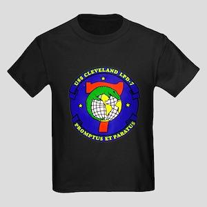 USS Cleveland LPD 7 Navy Ship Kids Dark T-Shirt