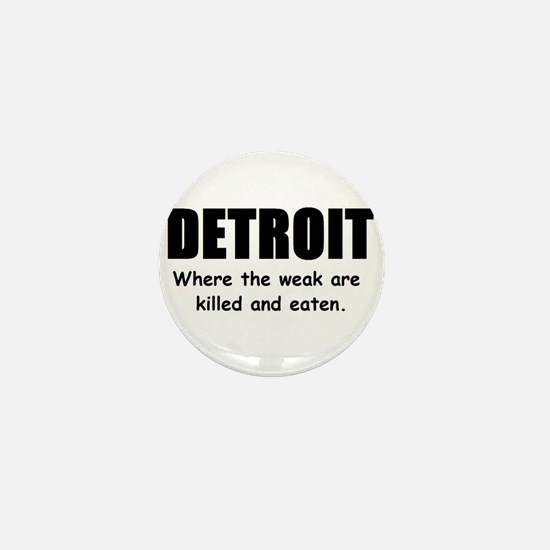 Unique Detroit michigan Mini Button