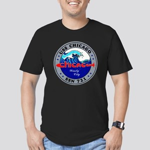 USS Chicago SSN 721 Navy Ship Men's Fitted T-Shirt