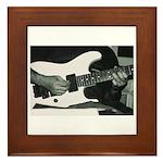 Play Guitar Framed Tile