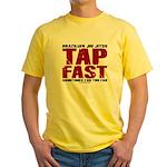 Tap Fast BJJ Yellow T-Shirt
