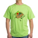 Jiu Jitsu Chick Green T-Shirt