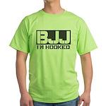 BJJ I'm Hooked Green T-Shirt