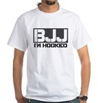BJJ I'm Hooked White T-Shirt