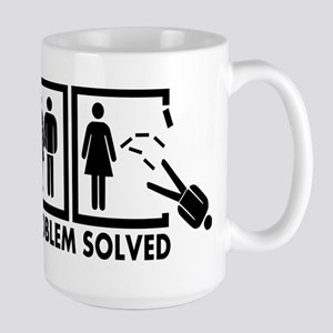 Problem solved - Man Large Mug