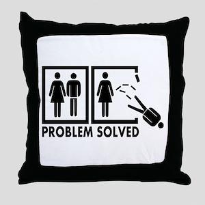 Problem solved - Man Throw Pillow