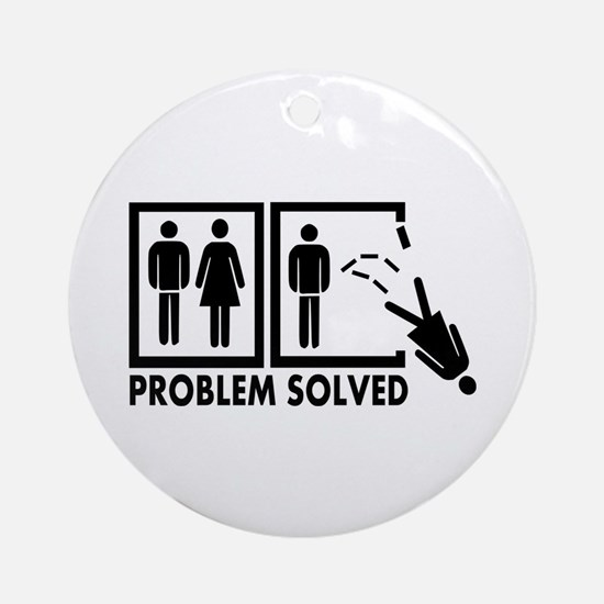 Problem solved - Woman Ornament (Round)