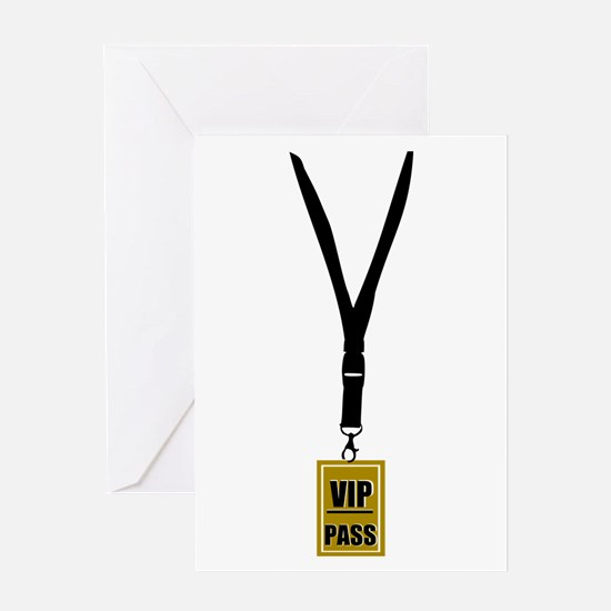 VIP Pass Greeting Card