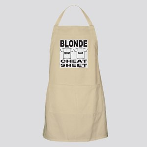 BLONDE CHEAT SHEET BBQ Apron