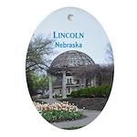 Lincoln Nebraska Oval Ornament