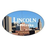 Lincoln Nebraska Sticker (Oval 10 pk)