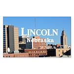 Lincoln Nebraska Sticker (Rectangle 50 pk)