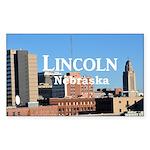 Lincoln Nebraska Sticker (Rectangle 10 pk)