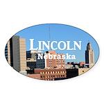 Lincoln Nebraska Sticker (Oval 50 pk)