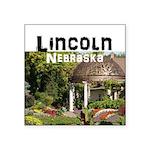"Lincoln Nebraska Square Sticker 3"" x 3"""