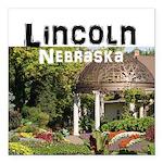 """Lincoln Nebraska Square Car Magnet 3"""" x 3"""""""