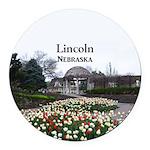 Lincoln Nebraska Round Car Magnet