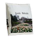 Lincoln Nebraska Burlap Throw Pillow