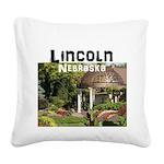 Lincoln Nebraska Square Canvas Pillow