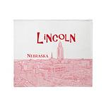 Lincoln Nebraska Throw Blanket