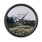 Lincoln Nebraska Large Wall Clock