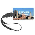 Lincoln Nebraska Large Luggage Tag