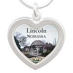 Lincoln Nebraska Silver Heart Necklace