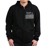 Lincoln Nebraska Zip Hoodie (dark)