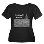 Lincoln Women's Plus Size Scoop Neck Dark T-Shirt