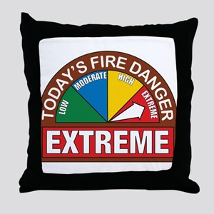 Wildland Fire Throw Pillow