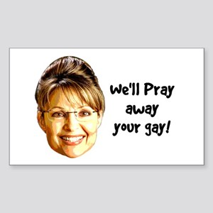 Pray Away Gay Rectangle Sticker