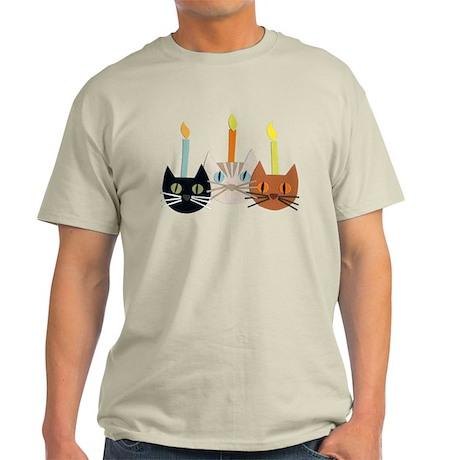 Birthday Cats Light T-Shirt