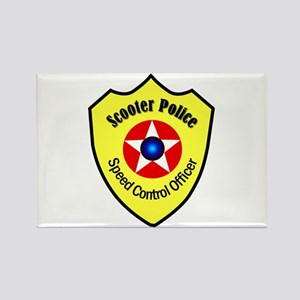 Scooter Police Rectangle Magnet