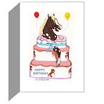 Pony Surprise Cake Greeting Card