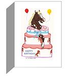 Pony Surprise Cake Greeting Cards (Pk of 10)