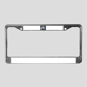 Grey Arabian License Plate Frame