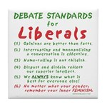 Debating Liberals Tile Coaster