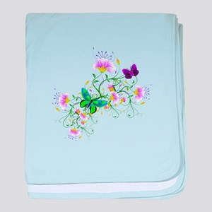 Vector Flowers baby blanket