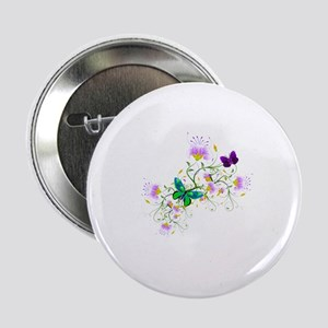 "Vector Flowers 2.25"" Button"