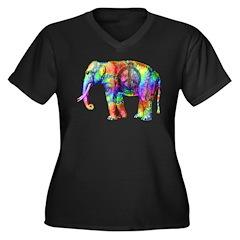 Way Cool Women's Plus Size V-Neck Dark T-Shirt