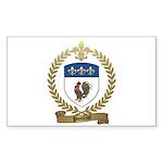 POULIOT Family Crest Rectangle Sticker 10 pk)